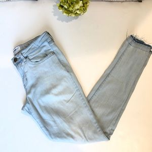 William Rast Perfect Skinny Light Wash Jeans, 27